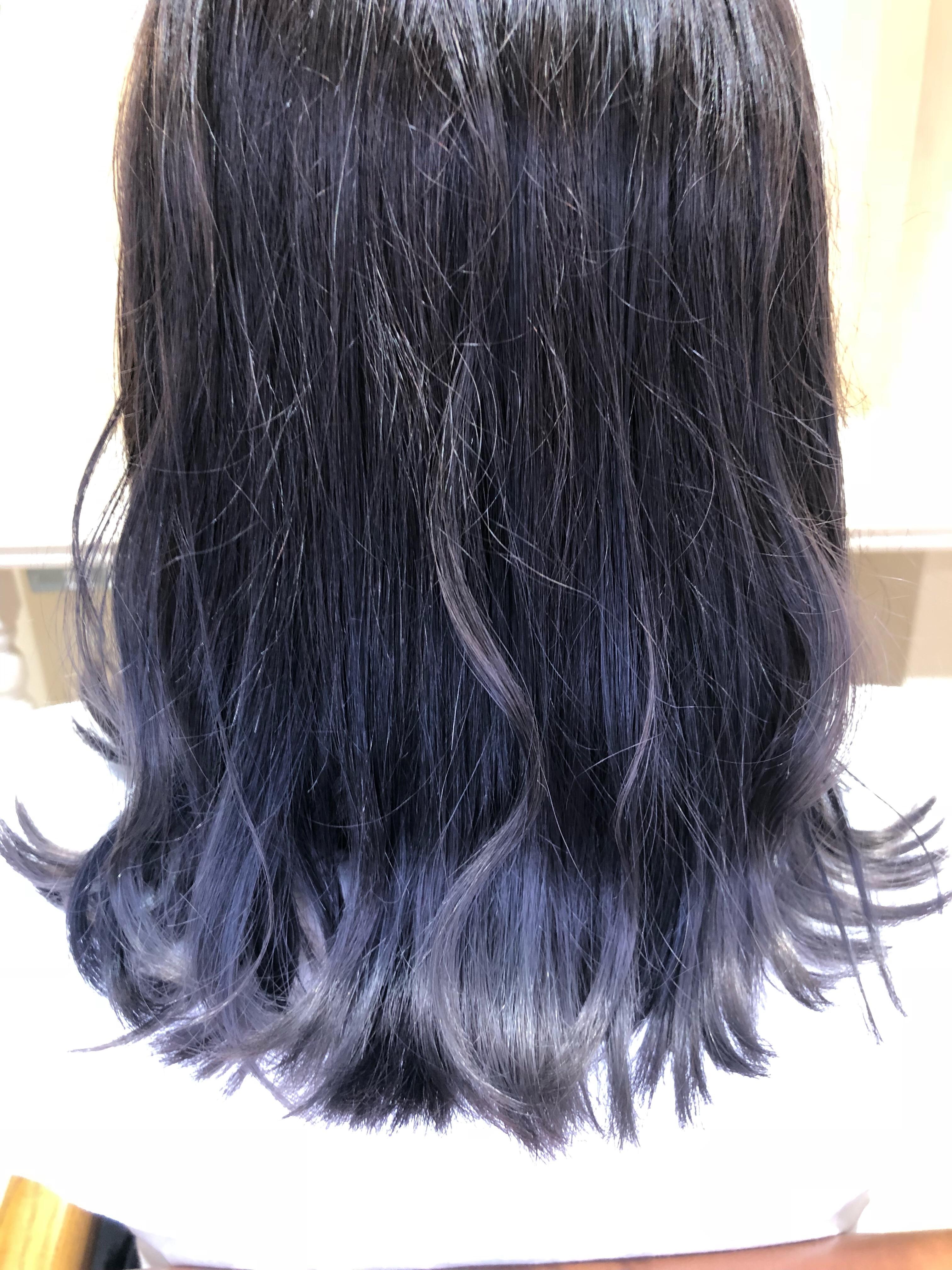 ブルー ブラック 色 落ち